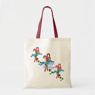 Candy Canes Christmas Tote Canvas Bags