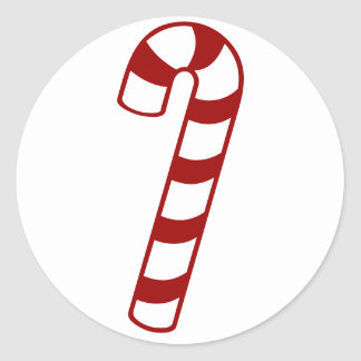 Candy Canes Classic Round Sticker
