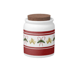 Candy Canes Cookie/Candy Jar