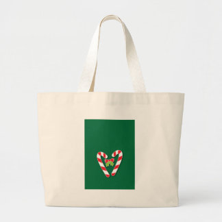 Candy Canes for Christmas Large Tote Bag
