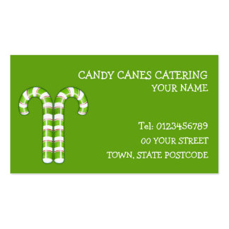 Candy Canes green Business Card