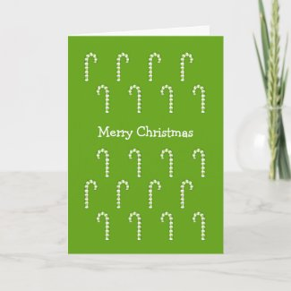 Candy Canes green Christmas Card card