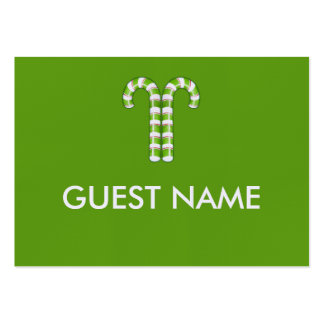 Candy Canes green Dinner Place Card Business Card