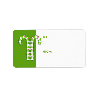 Candy Canes green Gift Tag