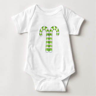 Candy Canes green Infant Baby Bodysuit