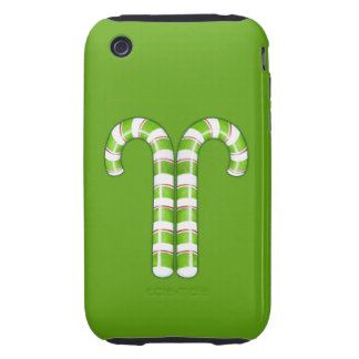 Candy Canes green iPhone 3G Case-Mate Tough iPhone 3 Tough Cases