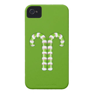 Candy Canes green iPhone 4 Case