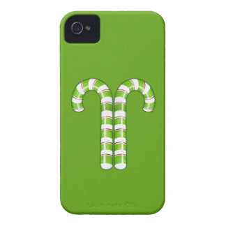 Candy Canes green iPhone 4 Case-Mate Cases
