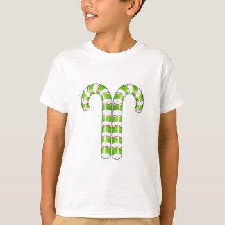 Candy Canes green Kids T-shirt