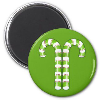 Candy Canes green Magnet