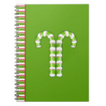 Candy Canes green Notebook