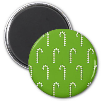 Candy Canes green pattern Magnet