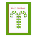 Candy Canes green Postcard