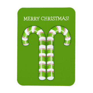 Candy Canes green Premium Magnet