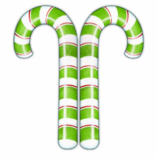 Candy Canes green Sculpture