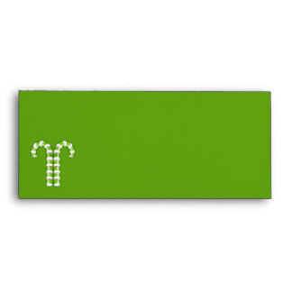 Candy Canes green stripes #10 Envelope