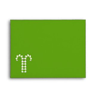 Candy Canes green stripes A2 Envelope envelope