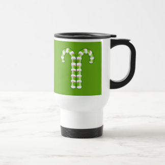 Candy Canes green Travel Mug