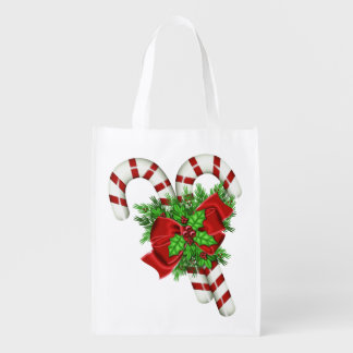 Candy Canes Grocery Bag
