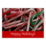 Candy Canes Holiday Card (Blank Inside)