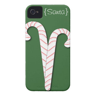Candy Canes Holiday iPhone 4S Case-Mate Case