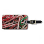 Candy Canes Holiday Tags For Luggage