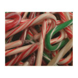 Candy Canes Holiday Wood Print