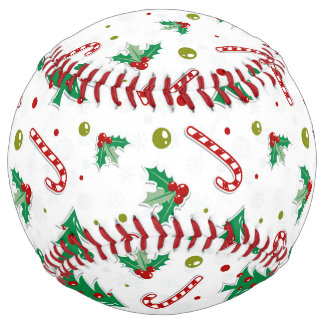 Candy Canes, Mistletoe, and Christmas Trees Softball
