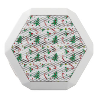 Candy Canes, Mistletoe, and Christmas Trees White Bluetooth Speaker
