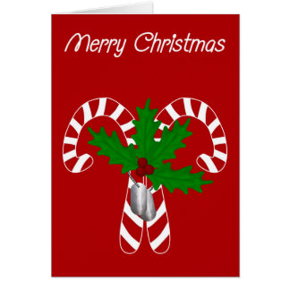 Candy Canes N Dog Tags Card