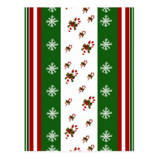 Candy Canes & Peppermint Stripes Postcard