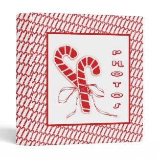 Candy Canes Photo Binder Vinyl Binder
