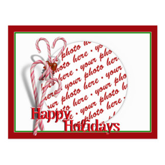 Candy Canes Photo Frame Postcard