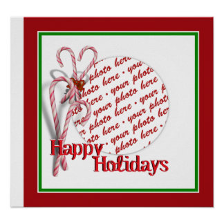 Candy Canes Photo Frame Print