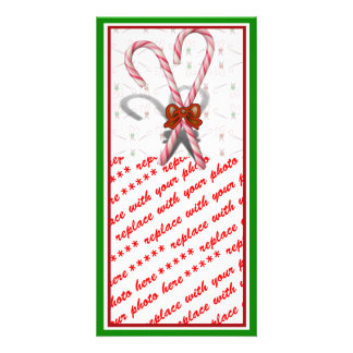 Candy Canes Photo Card