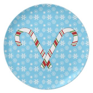 Candy canes plate