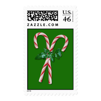 Candy Canes Postage Stamp