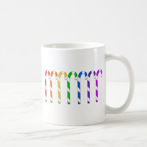 Candy Canes - Rainbow Of Flavors Coffee Mugs