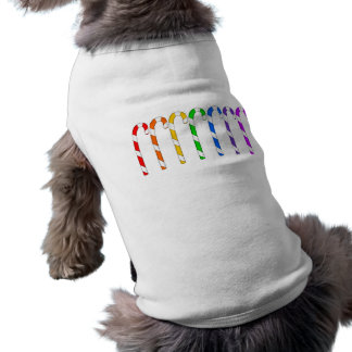 Candy Canes - Rainbow Of Flavors Doggie T-shirt