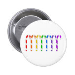 Candy Canes - Rainbow Of Flavors Pinback Button