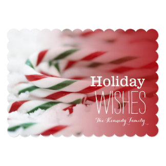 Candy canes red and green card