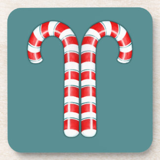Candy Canes red Cork Coasters