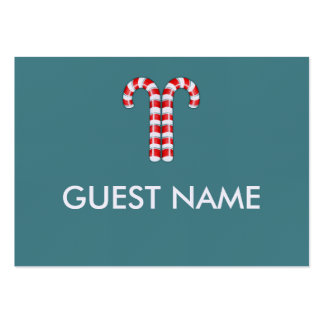 Candy Canes red Dinner Place Card Business Card