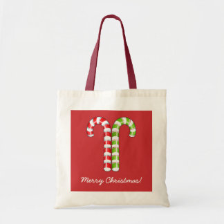 Candy Canes red green Bag
