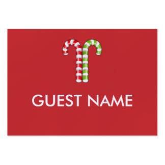 Candy Canes red green Dinner Place Card Business Card Templates