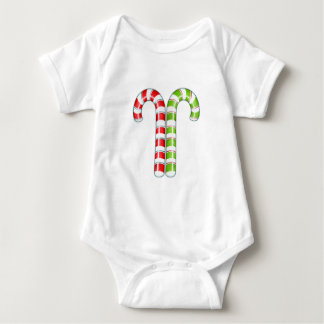 Candy Canes red green Infant Baby Bodysuit