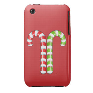Candy Canes red green  iPhone 3G Case-Mate Case-Mate iPhone 3 Case