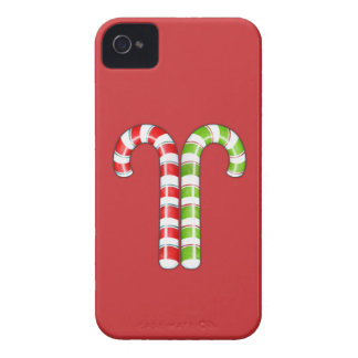 Candy Canes red green iPhone 4 Case