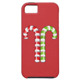 Candy Canes red green iPhone 5 Case-Mate Tough™ iPhone 5 Case