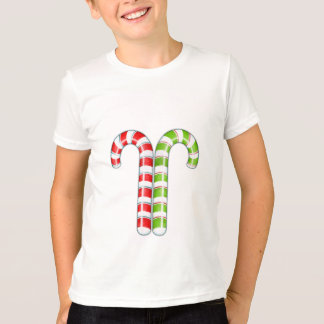 Candy Canes red green Kids T-shirt